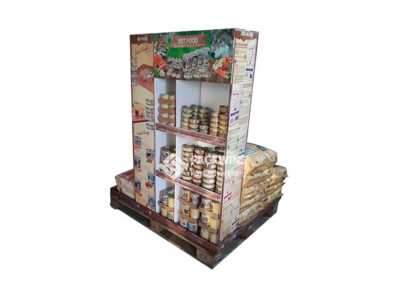 Cardboard Pallet POS Display for Pet Food Spain