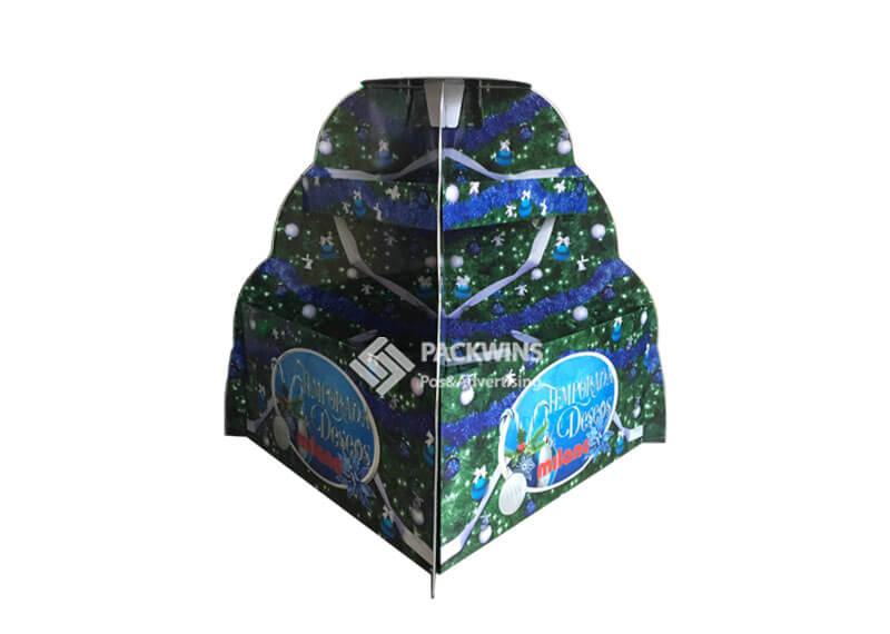 Christmas Tree Shaped Cardboard Display Pallet
