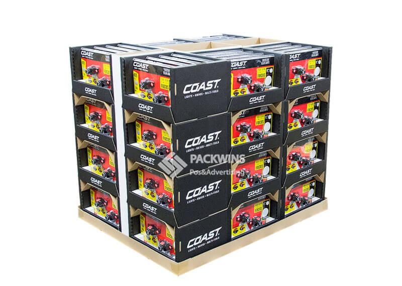 Coast Full Pallet POP Cardboard Display