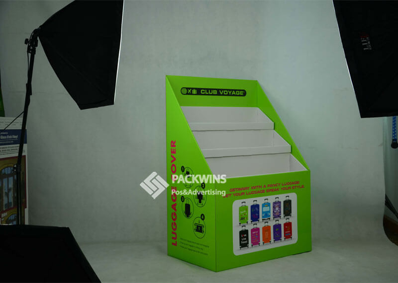 Corrugated Half Pallet Display for Travel Case Covers