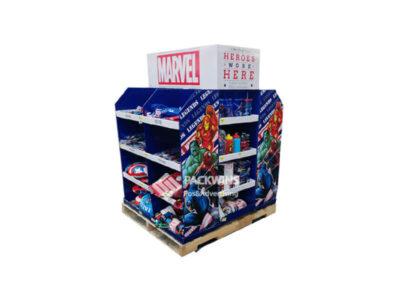 Disney Marvel Corrugated Pallet Display