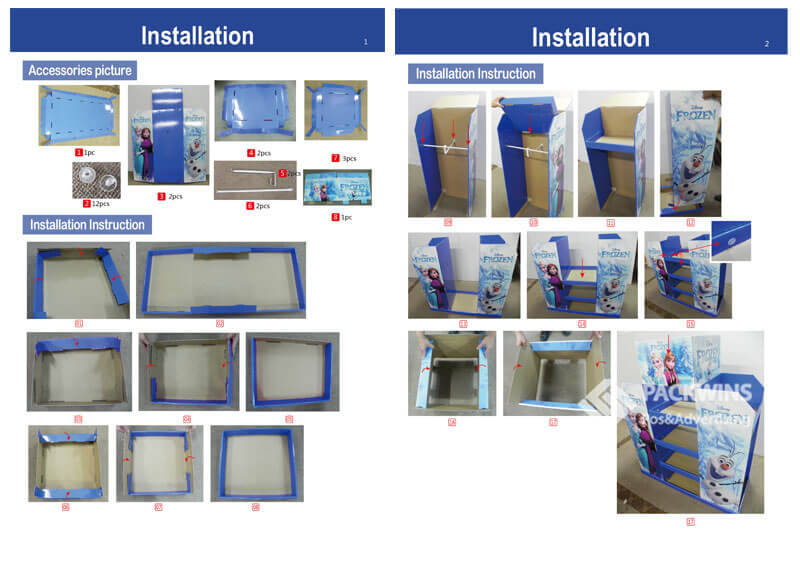 Frozen Full Pallet Pos Cardboard Display for Clothes Assembly