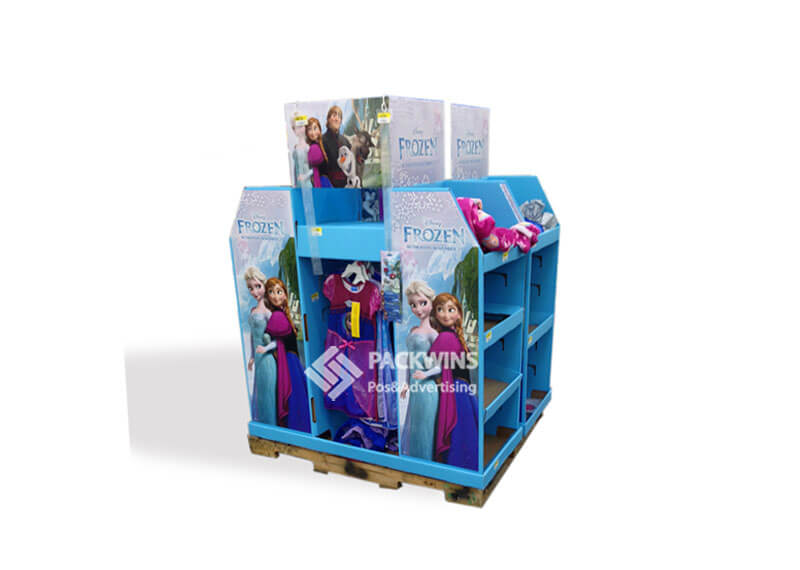 Frozen Full Pallet Pos Cardboard Display for Clothes