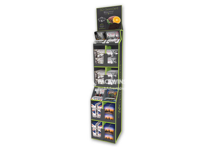 100Ft Tall Floor Standing Display Unit For 3D Chocolatechest And Giftcard