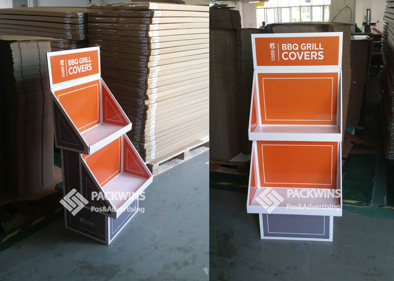 2 Shelves Bbq Grill Covers Point Of Purchase Display