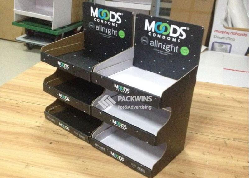 3 Shelves Cardboard Display Case for Condoms