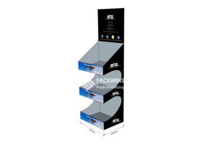 3 Shelves Counter Units Display for Energy Drinks