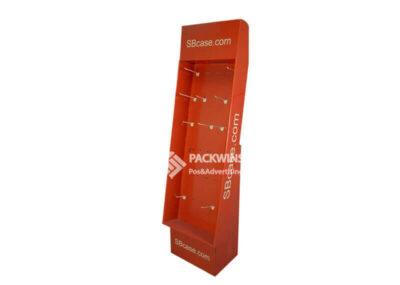 3C Digital Phone Cases Corrugated Pegboard Shop Display