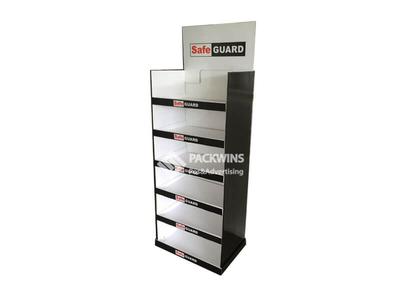 6 Shelves Safeguard Bulbs Pop Point Of Purchase
