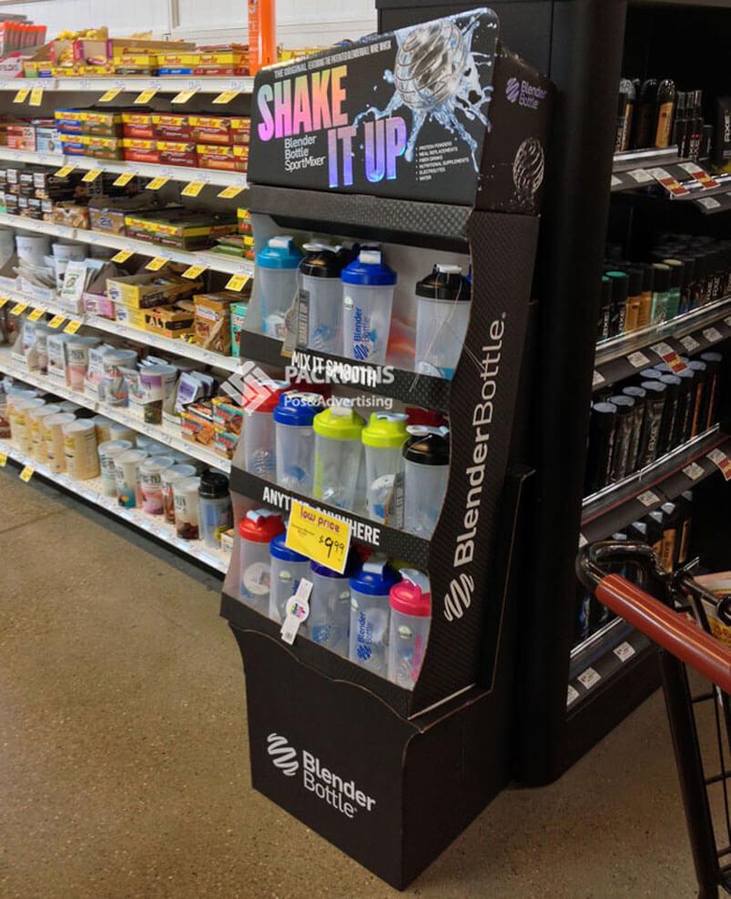 Blender Bottle Tumblers Floor Standing Display Units