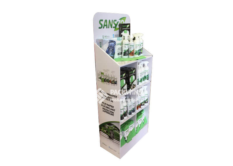 Canadian Car Wash Kit Custom Cardboard Floor Displays
