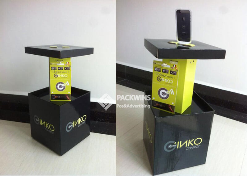 Cell Phone Promotional Cardboard Point Of Sale Display