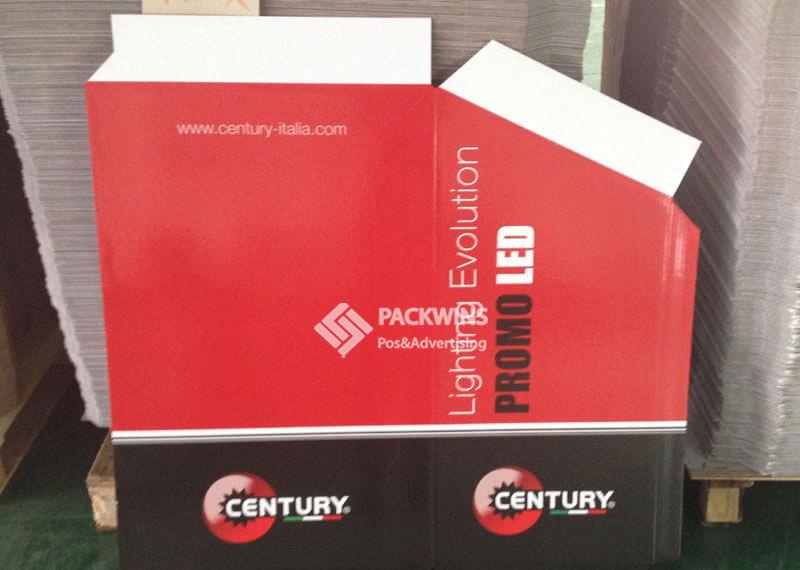 Century Led Lamps Pos Dump Bin Cardboard Product Display