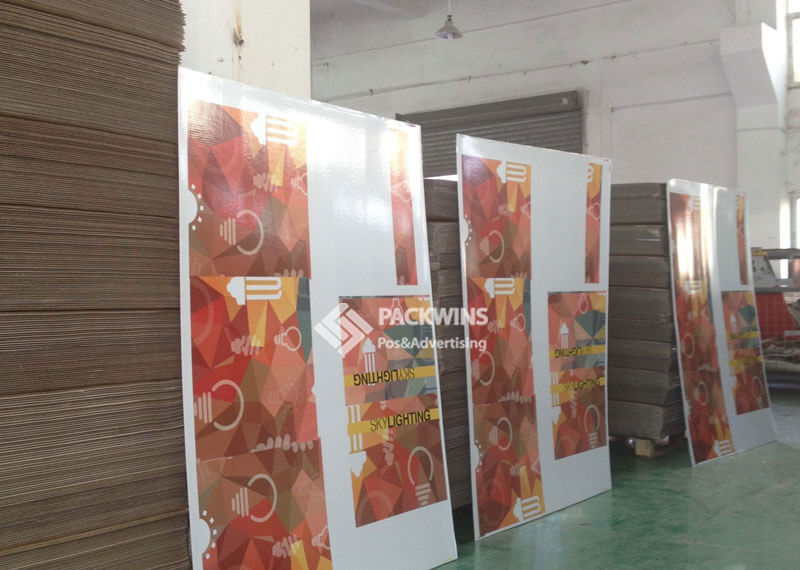Check Out Counter Corrugated Counter Display For Led Lamps