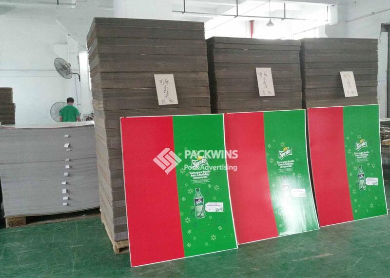 Coca Cola Christmas Promotional POP Cardboard Display