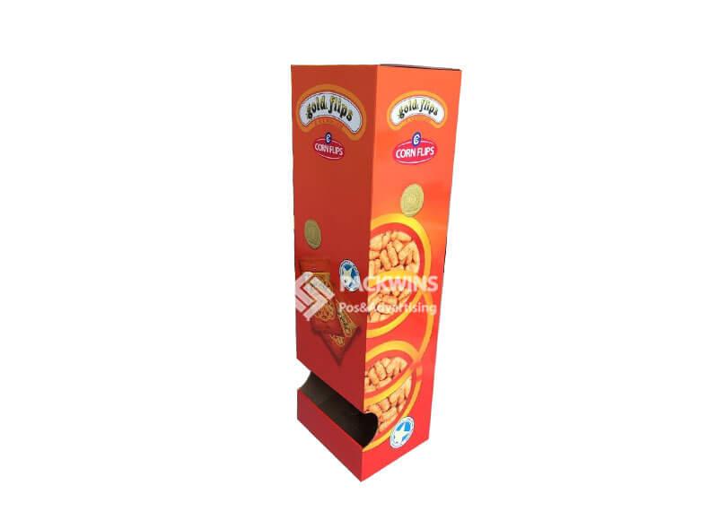 Corn Flips Hangsell To Wire Rack Cardboard Pop Up Standee