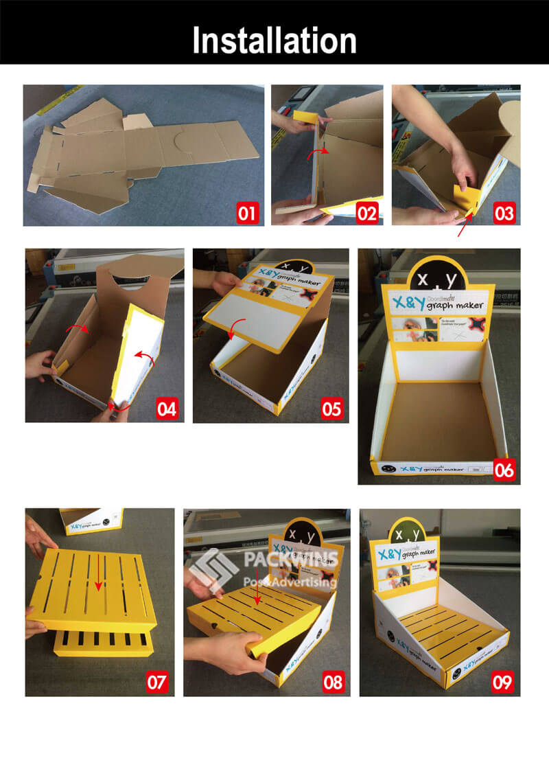 Counter Display Cardboard for Graphic Maker
