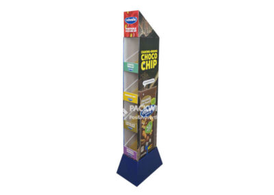 Fruit Juices Pos Pop Marketing Corrugated Tower Display Stand