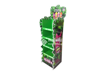 Full Graphic Design And Print Floor Display Cases For Juice