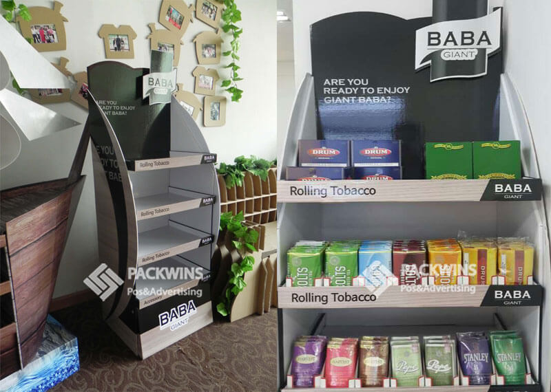 Giant Baba Rolling Tobacco Pop Display Design