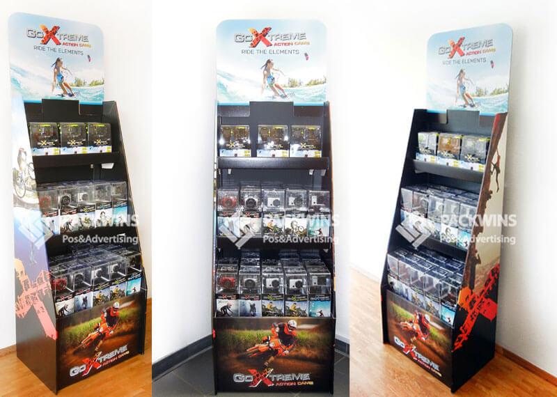 Goextreme Action Camera Corrugated Design Pop Retail Display