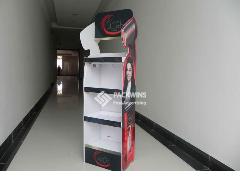 Hair Dryer Shaped Point Of Purchase Display For Shampoo
