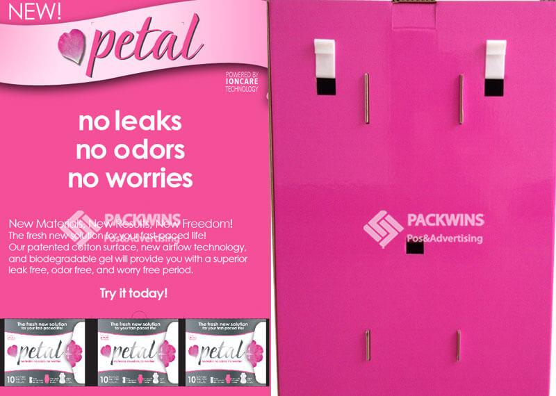 Hangsell Pop Cardboard Grocery End Cap For Sanitary Towels