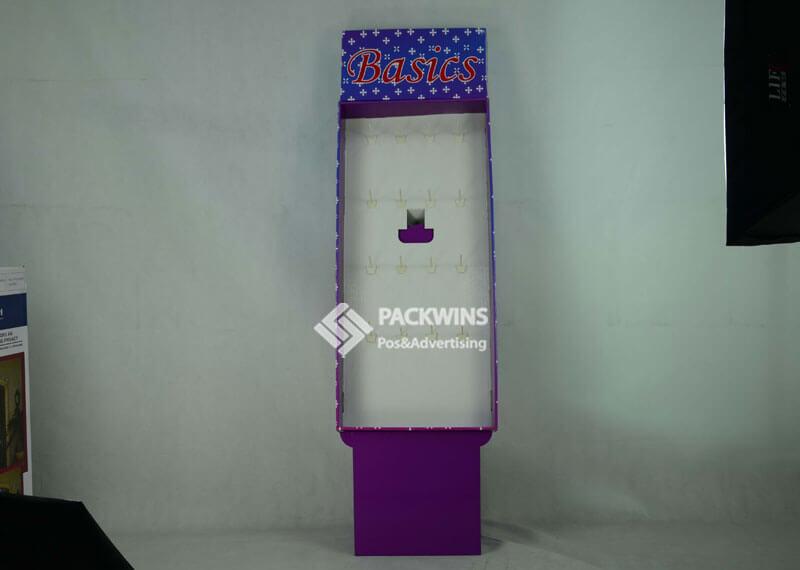 Headband Point Of Sale Hangsell Paper Pegboard Floor Rack
