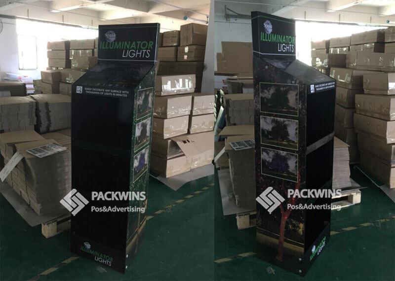 Illuminator Decoration Lights Cardboard Point Of Purchase Displays