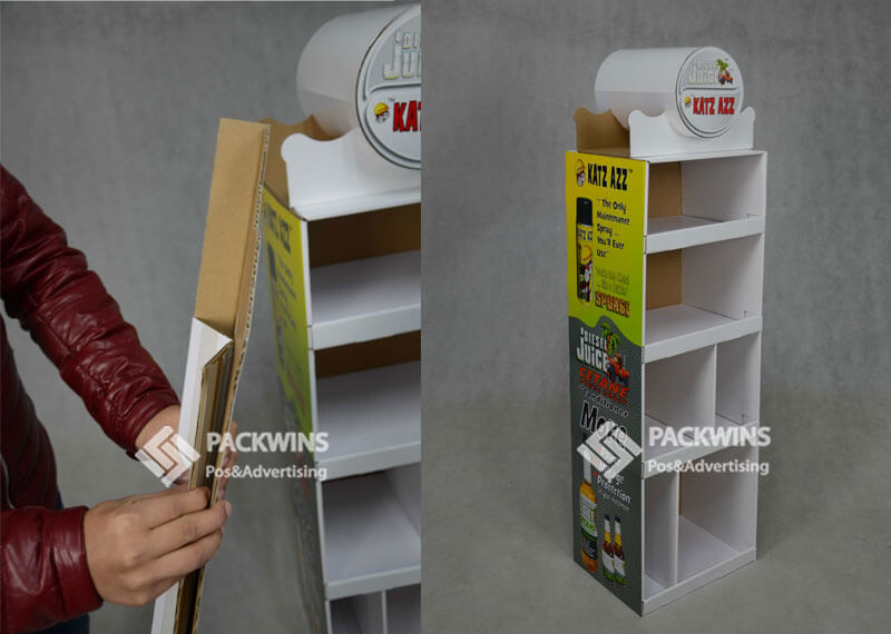 Katz Azz Maintenance Spray Cardboard Advertising Display