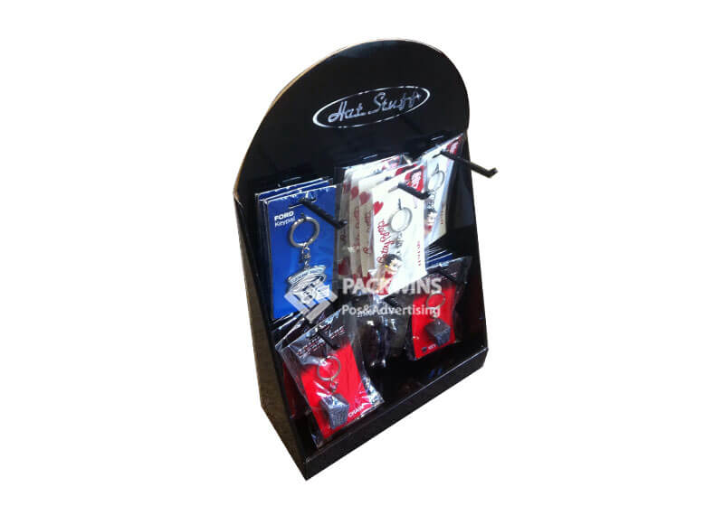 Keychain Cardboard Counter Display Boxes with Hanging Hooks