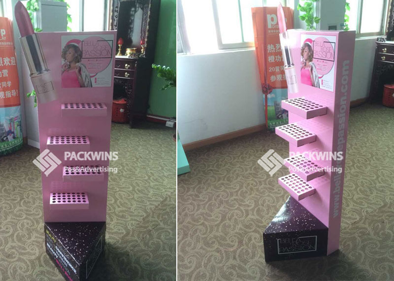 Lipstick Shaped Advertising Baord Cosmetic Display Stand