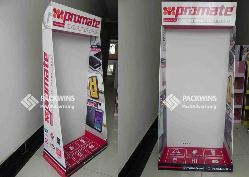 MDF Back Panel Peg Hook Display Rack For Mobile Accessories
