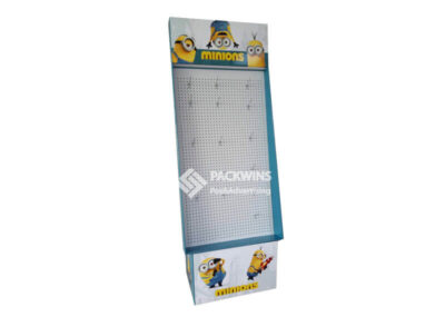 Minions Stationery POS Pegboard Display Stand With MDF Backpanel