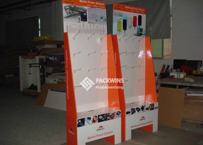 Mobile Power Adaptor Point Of Sale Cardboard Display Stands