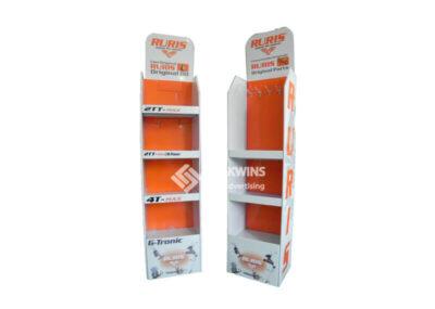 Motor Parts And Oil Pop Corrugated Cardboard Displays