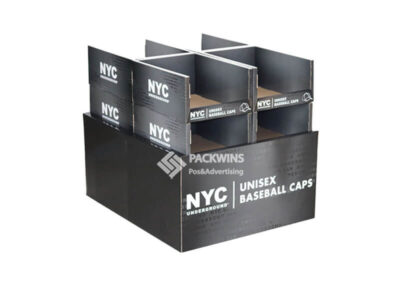 NYC Caps Point of Purchase Corrugate Display