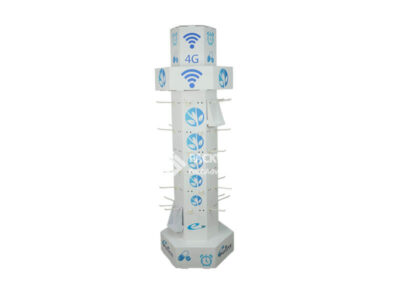 Phone Accessories Hexgon Rotating Pegboard Tower Manufacturer