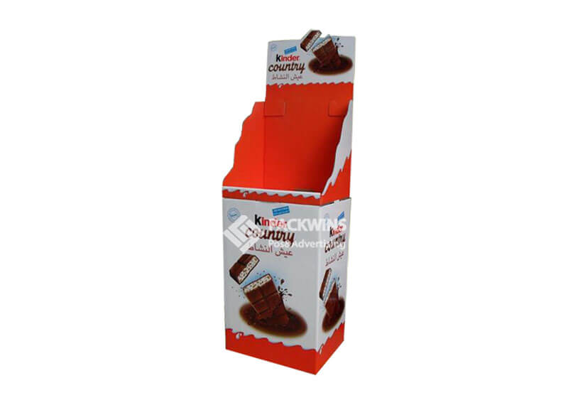 Point Of Sale Corrugated Display Boxes For Kinder Chocalate