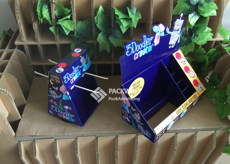Point of Purchase Cardboard CDU for 3D Printing Pens