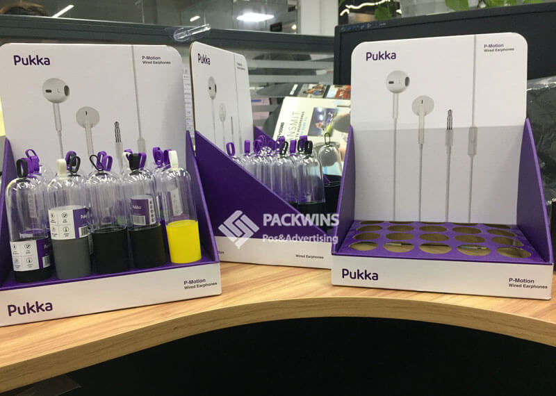 Point of Purchase Cardboard Display Units for Earplugs