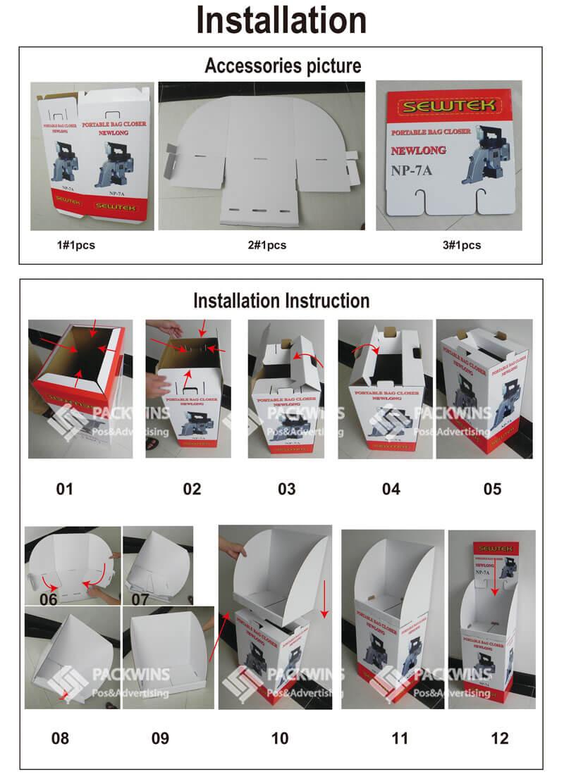 Portable Bag Closer Pos Display Carton Box