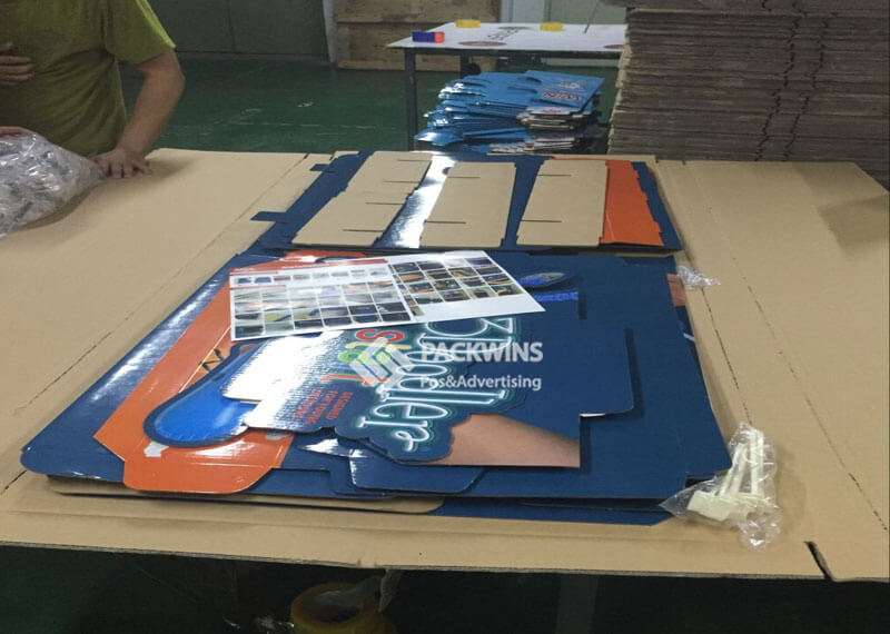 Pre-Assembled Cardboard FSDU Floor Display POS