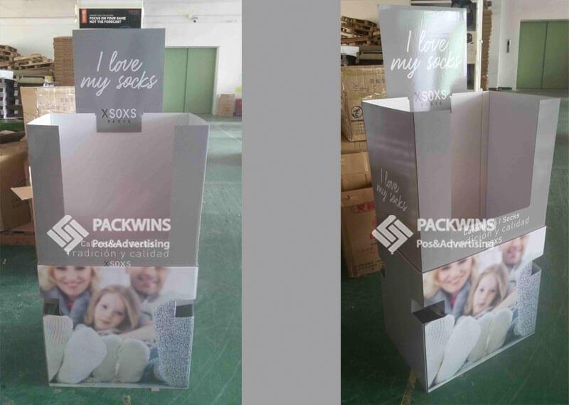 Retail Bins Cardboard Shipper Display To Display Socks (4)
