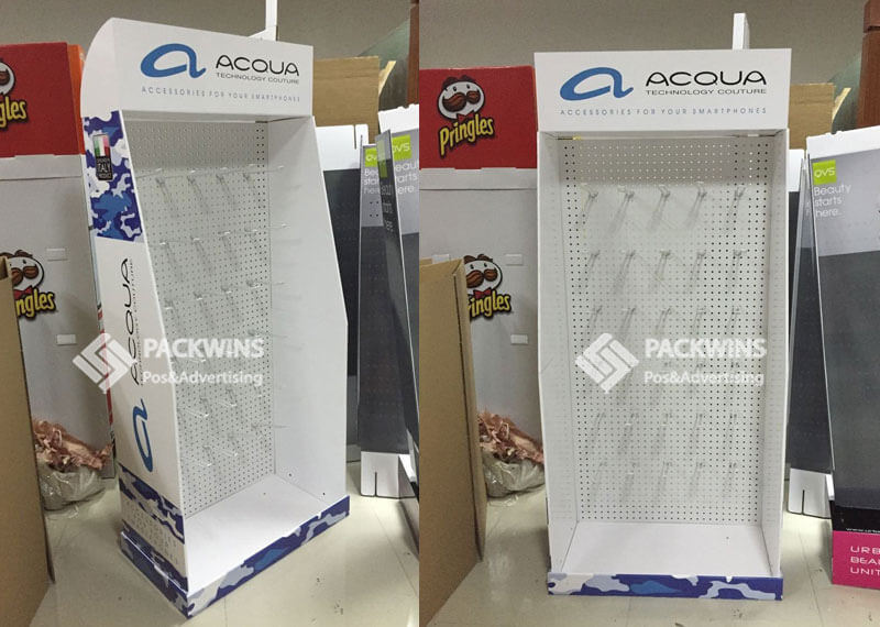 Retail Pegboard Display With MDF Back To Support Heavy Duty Phone Accessories