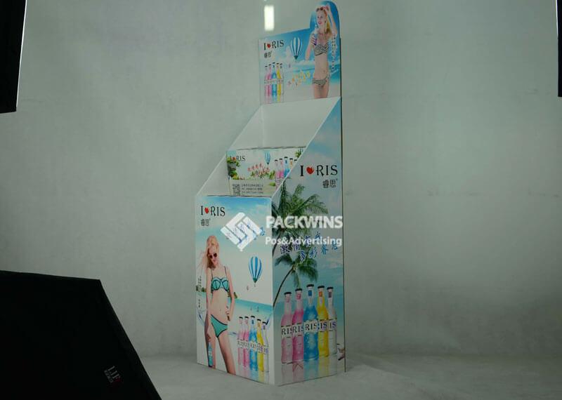 Rio Cocktail Bottle Drinks Dumpbin Custom Cardboard Display Stands