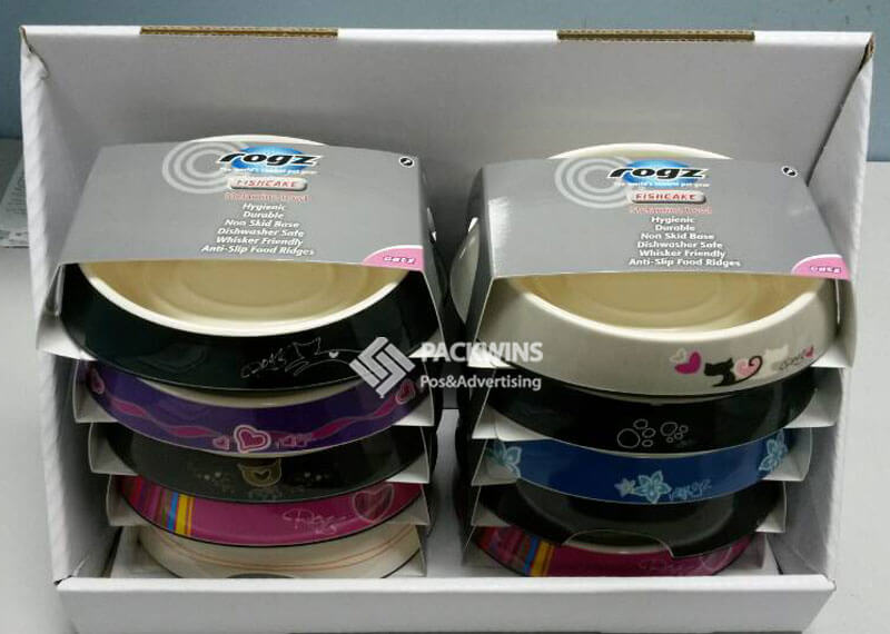 Rogz Pet Bowls Point Of Purchase Display Manufacturers