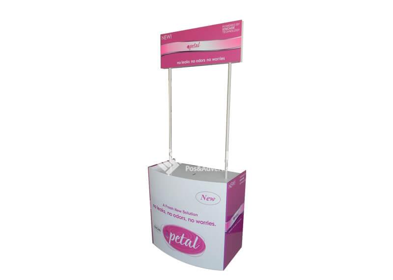 Sanitary Towel Promotional Counter Cardboard Floor Displays