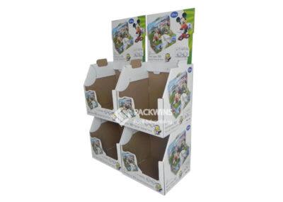 Stackable Footwear Cardboard Display for Disney Napkin