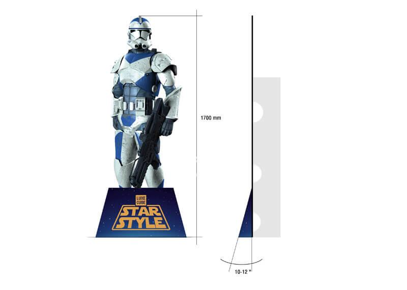 Star Wars Corrugated Lifesize Superhero Cutouts